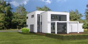 kuch 3d gartenseitig ars architektur haan bauen haus planen